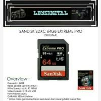 Sandisk SDXC 64GB EXTreme Pro-Memory SD Card Sandisk 64gb Original