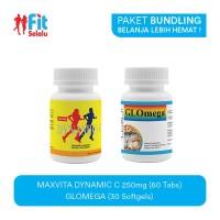 Paket : Maxvita Dynamic C 250Mg 60 Tab & LifePharm Glomega 30 Softgel
