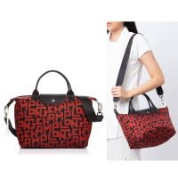Tas Bahu Tas Wanita Longchamp Neo Small LGP Red / Black