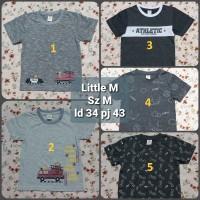 Kaos Anak Size M (4-5) Tahun Little M Atasan Branded Atasan