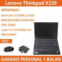 X230 Corei5 8GB&4GB Murah Jual Laptop Bekas Lenovo Thinkpad
