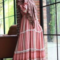Namia dress rayon renda pom pom