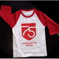 Kaos Distro Baju Tshirt Raglan Indonesia Hut RI 75