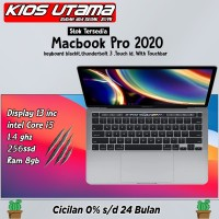 "Apple MacBook Pro 2020 MXK32 13"" 256GB 1.4GHz MXK62 Space Gray Silver - SILVER, GARANSI INTER"