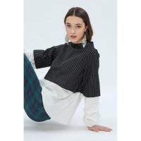 Cottonink - Black Striped Ginevra