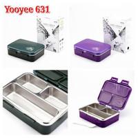 Yooyee 631 Kotak Makan Lunch Box 3 Sekat Stainless Steel Tahan Panas