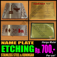 Name Plate Panel Stainless Steel / Kuningan - Stainless 430, 0.5 mm