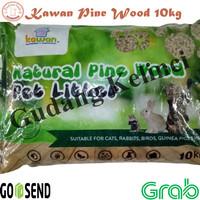Pelet kayu pasir kucing kelinci KAWAN PINE WOOD PELLET 10 KG