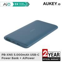 Aukey Powerbank PB-XN5 5000mAh Ultra Portable USB-C BLUE- 500528