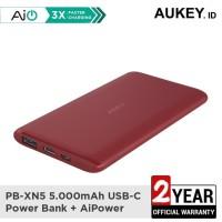 Aukey Powerbank PB-XN5 5000mAh 5V 3A Ultra Portable USB-C RED - 500530