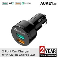 Aukey CC-T7 Car Charger 2 Ports Quick Charge - 500409
