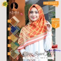 Jilbab Segi Empat Voal Noor Syari Lc Motif 7 by Azara Scarf Hijab Ori