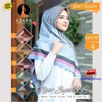 Jilbab Segi Empat Voal Noor Syari Lc Motif 4 by Azara Scarf Hijab Ori
