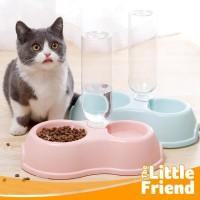 Tempat Makan dan Botol Minum Pet Dispenser Mini Anjing Kucing Premium