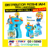 READY IMPORT Mainan anak bubble gun pororo / bubble machine / PORORO - Pororo Biru