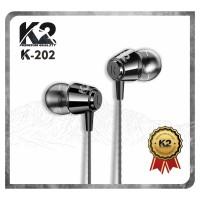 [GROSIR] Headset / Handsfree K2 Premium Quality K-202 Stereo Bass