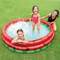 INTEX Kolam Renang Pompa Anak Besar | Tiup / Angin 3 ring | 168x38 cm