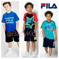 Setelan FILA baju + celana olahraga sport anak laki set fila kaos pant