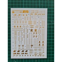 Water Decal MG 1/100 Banshee UNICORN GUNDAM GOLD METALIC DL Model