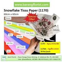 Snow Flake Tissu Paper (1170A), 20 lbr/pack, Aksesoris toko bunga