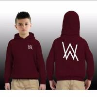 sweater anak alan walker - L, Biru navy