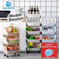 Rak dapur plastik - tempat penyimpanan sayur atau barang rumah tangga