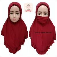 Jilbab Masker Hijab Anak Niqob Cadar KCB