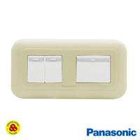 Panasonic Saklar 3G 1W WEJ78049F + WEJ5541 Sakelar 3 Gang Pastel Cream