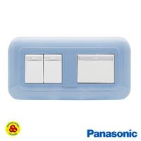 Panasonic Saklar 3G 1W WEJ78049TL + WEJ5541 Sakelar 3 Gang Pastel Biru