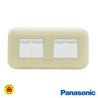 Panasonic Saklar 4G 1W WEJ78049F + WEJ5531 Sakelar 4 Gang Pastel Cream
