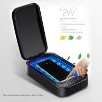 UV STERILIZER BOX BLACK (STYLISH) STERIL DISINFEKTAN!UTK MASKER,HP,DLL