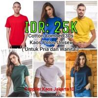Baju Kaos Polos Unisex Cotton Combed 30s Original - Pria dan Wanita