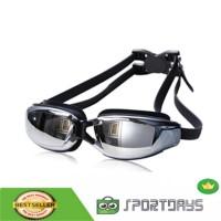 RUIHE Kacamata Renang Anti Fog UV Protection Dewasa - RH9200 - Black