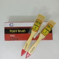 Kuas Cat Tembok ukuran 1inch . Paint brush kd04