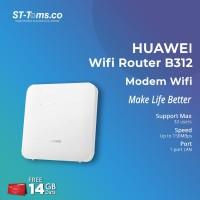 Huawei Wifi Router B312 Modem Wifi 4G Unlock Free Kuota 14Gb 2Bln