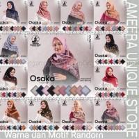 OSAKA Umama Jilbab POLYCOTTON Hijab Kerudung Scarf Segi Empat