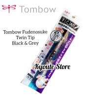 Tombow Fudenosuke Twin Tip Brush Pen Black Grey Lettering Kaligrafi