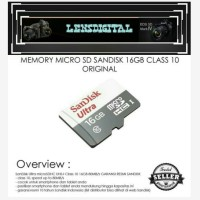 Memory Micro SD Sandisk 16Gb Class 10-Original