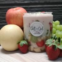 Salad Buah/ Fruity Creamery Salad in a jar @600ml