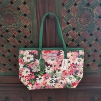 Cath Kidston Leather Trim Tote Bag Medium Daisy Pink