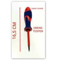 Tespen /Tes Pen/ Testpen / Obeng Tespen Plus Minus sedang 16,5cm murah