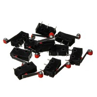 100Pcs Micro Limit Switch With Roller Lever KW12-3 Tech Inov