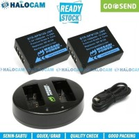 Wasabi Power PAKET 2 Battery & Charger for NP-W126 - X-A3 A5 A7 A