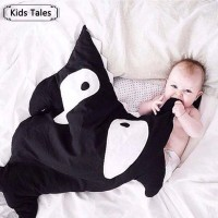 Selimut Baby Shark Baby Blanket Bentuk Motif Ikan Hiu Baby Photo Props
