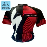 Jersey Sepeda Specialized Red White SS FREE ONGKIR