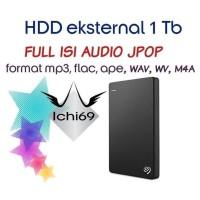 Hdd Hardisk eskternal 1TB Full Isi lagu jepang Audio Jpop mp3 flac
