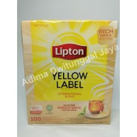 Lipton Yellow Label 100 Tea Bag Non Envelope/ Teh Lipton/ Teh Hitam