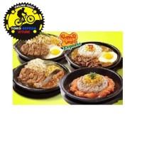 Sunrise Hot Plate Steak Bulat Piring Pemanggang Pepperlunch 22 cm