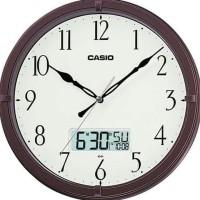 Jam Dinding Wall Clock Casio Calendar Day Month Date Silent Movement 5