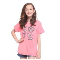 Habitat Girl - Davina Quartet Squirrel T-Shirt Pink - Kaos Bahan Katun